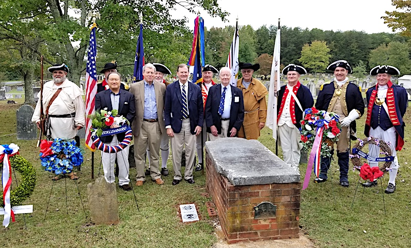 The Gen. William Lee Davidson chapter co-sponsored a grave marking ceremony for patriot Gen. Robert Irwin on October 14, 2017 at Steele Creek Presbyterian Church in Charlotte, NC.